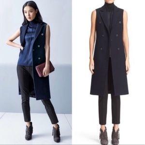 Rag & Bone Faye Longline Wool-blend Vest